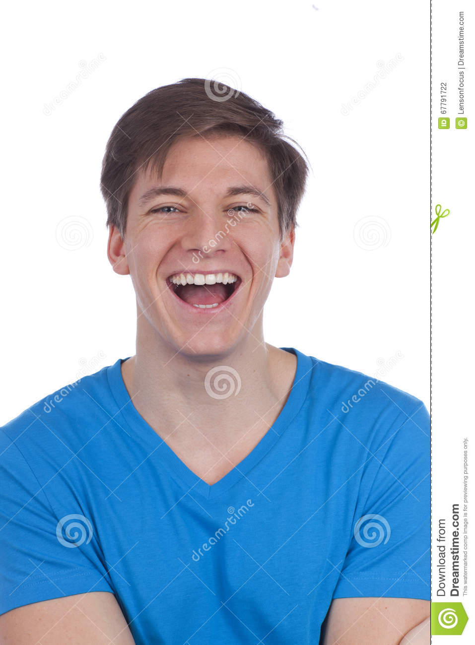 Attactive young man smiling