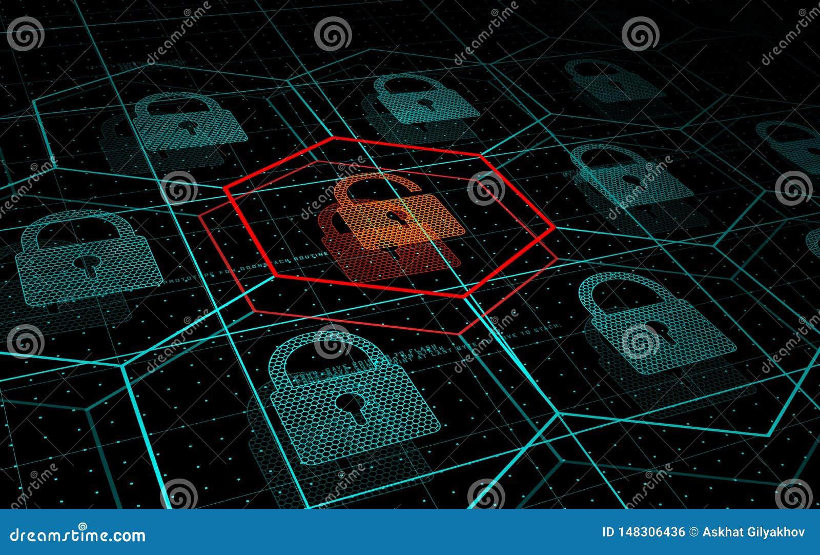 Attaque de Cyber, système sous la menace, attaque de DDoS