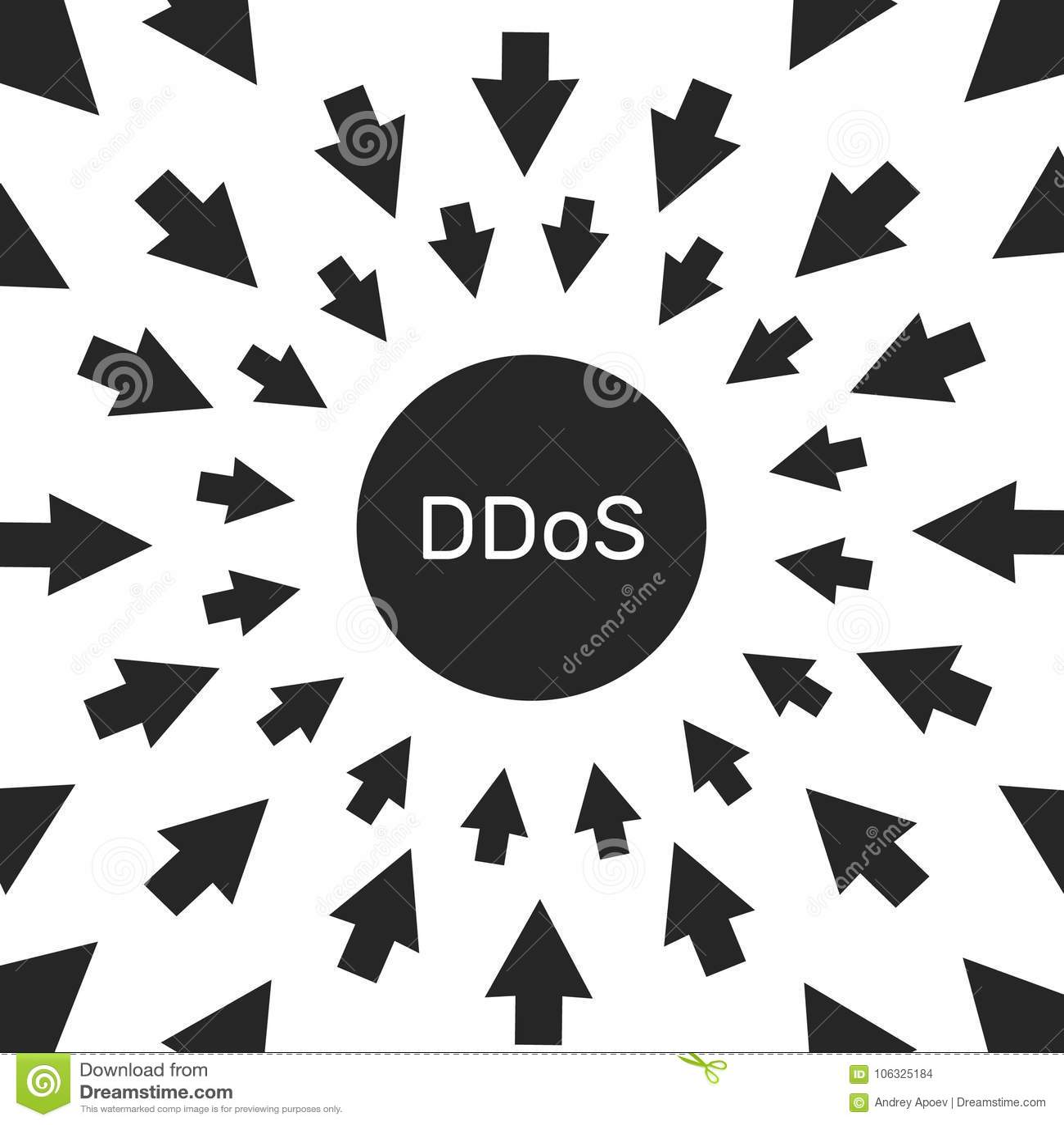 Attaque de pirate informatique de DDoS menace de protection de l ordinateur et de réseau