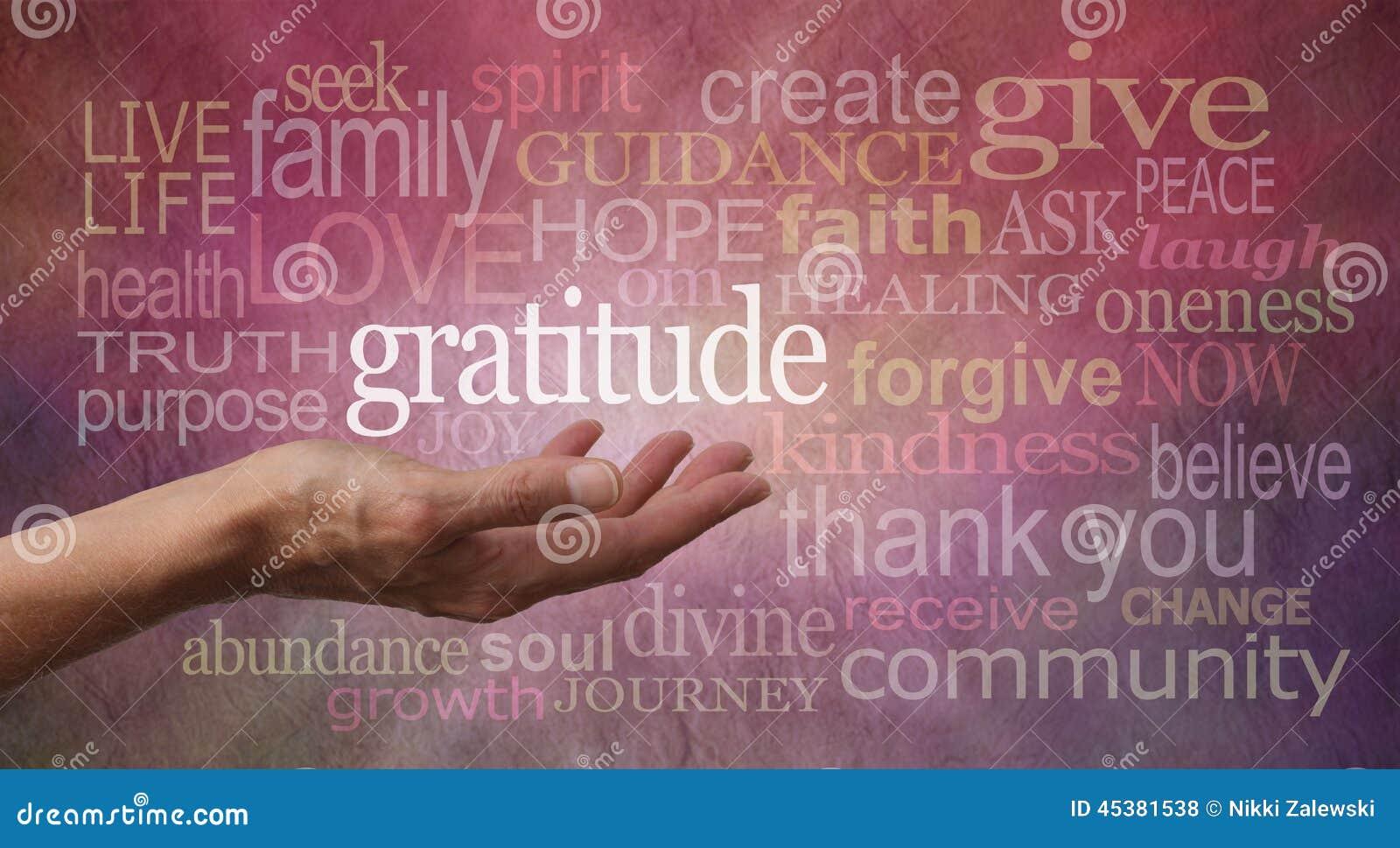 Atteggiamento di ringraziamento