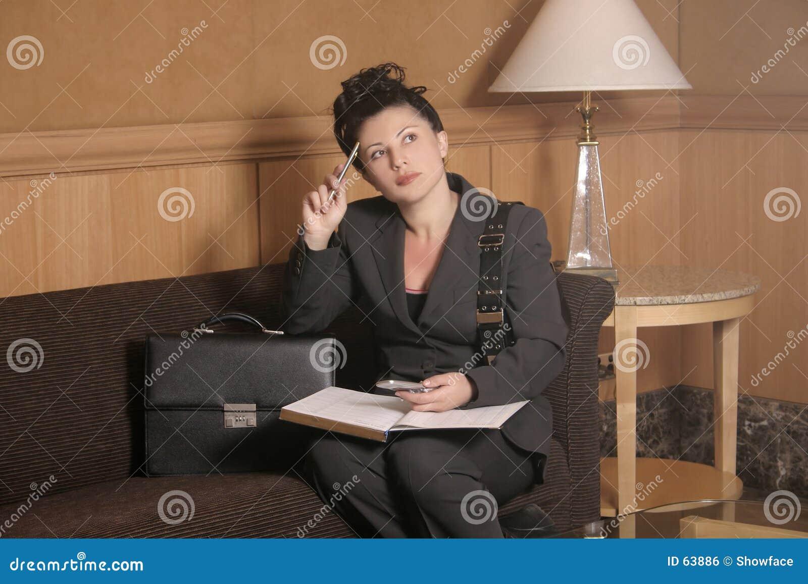 Download Attente photo stock. Image du pensée, femmes, lampe, travail - 63886
