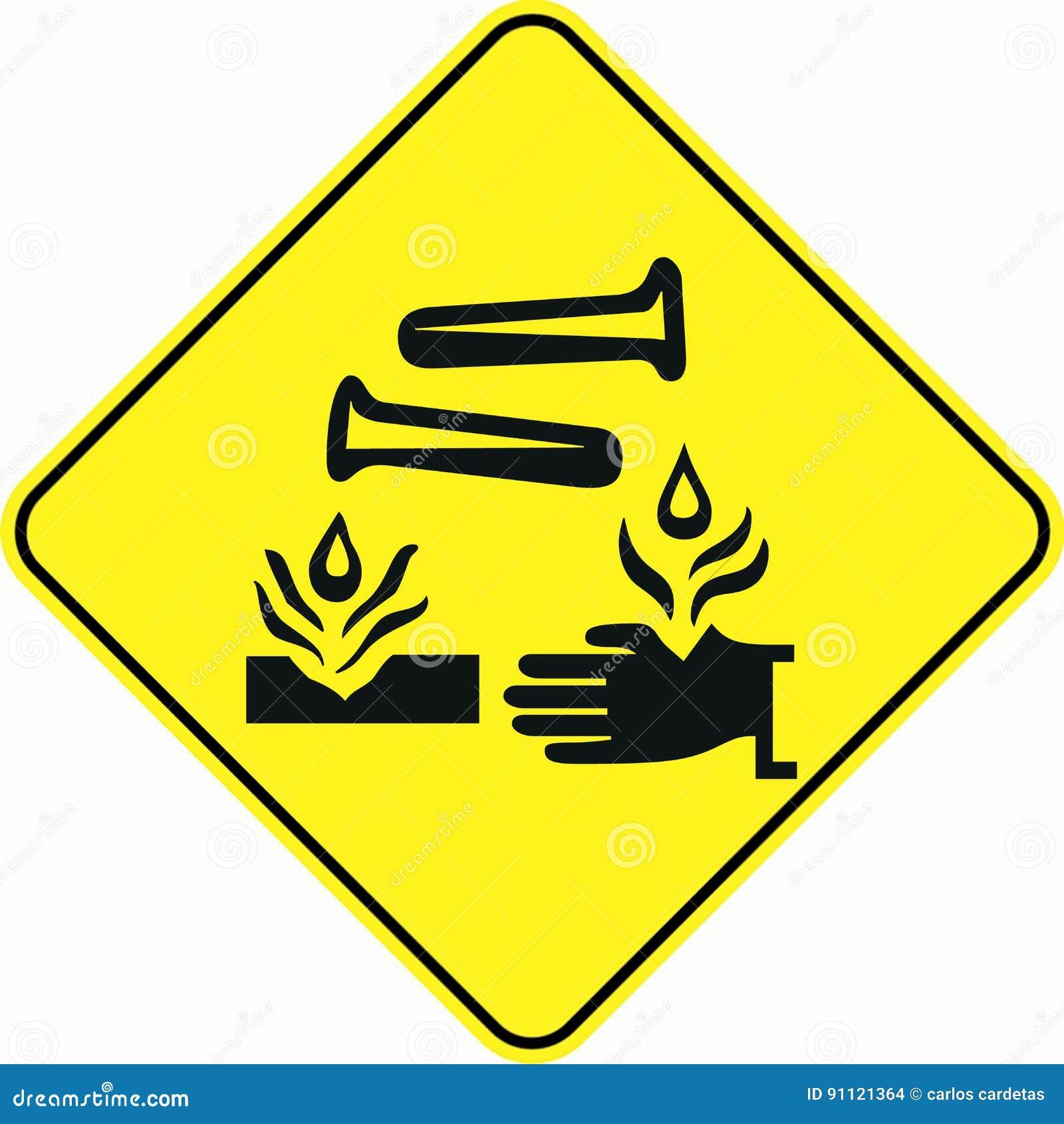 Attention alert corrosive substance symbol sign stock illustration attention alert corrosive substance symbol sign biocorpaavc Gallery