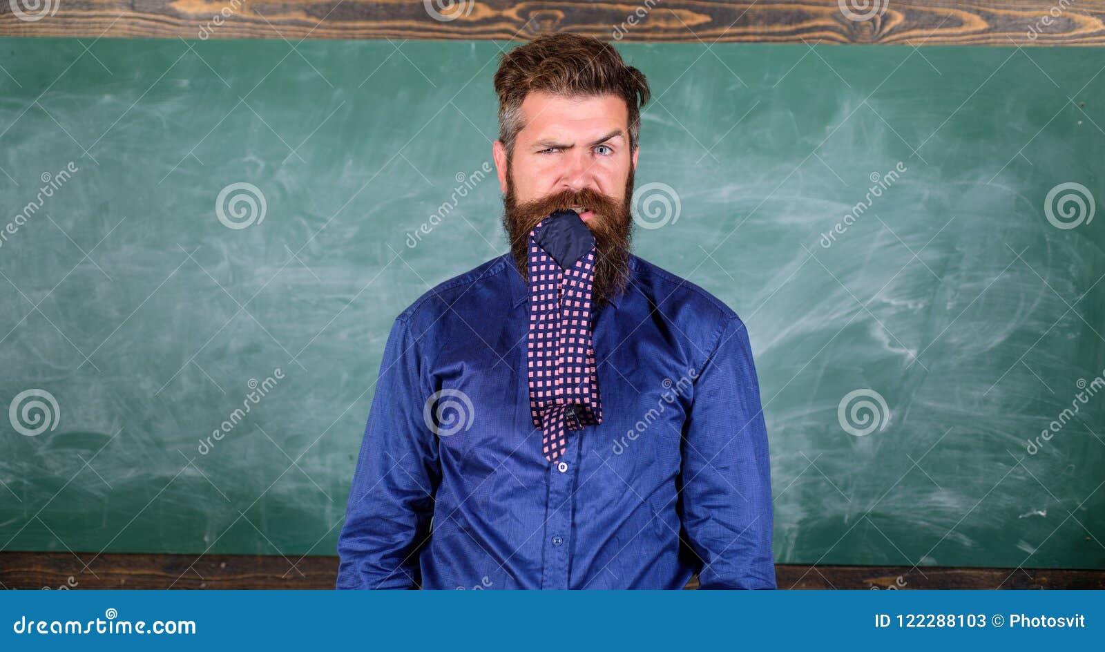 Attention de salaire à votre comportement et façons Le professeur se comporte non professionnel Le professeur ou l éducateur barb