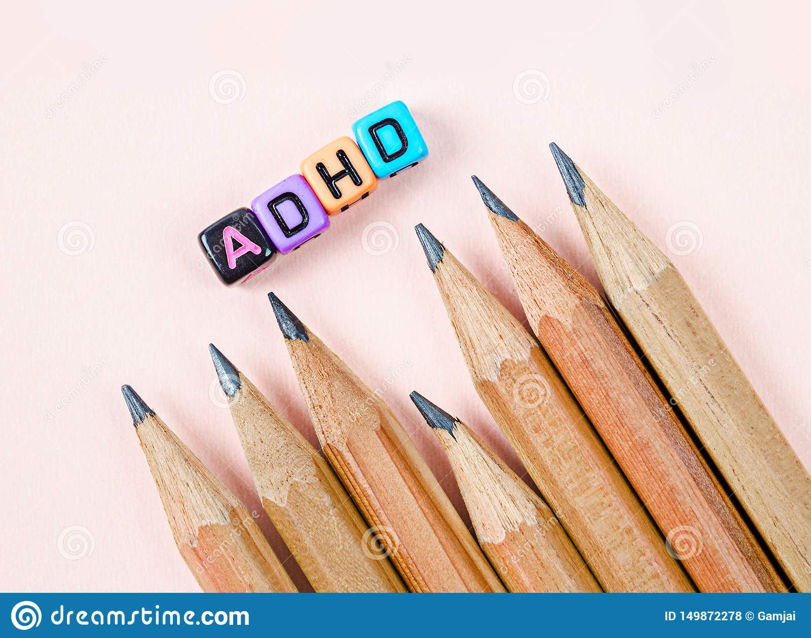 Attention Deficit Hyperactivity Disorder or ADHD concept