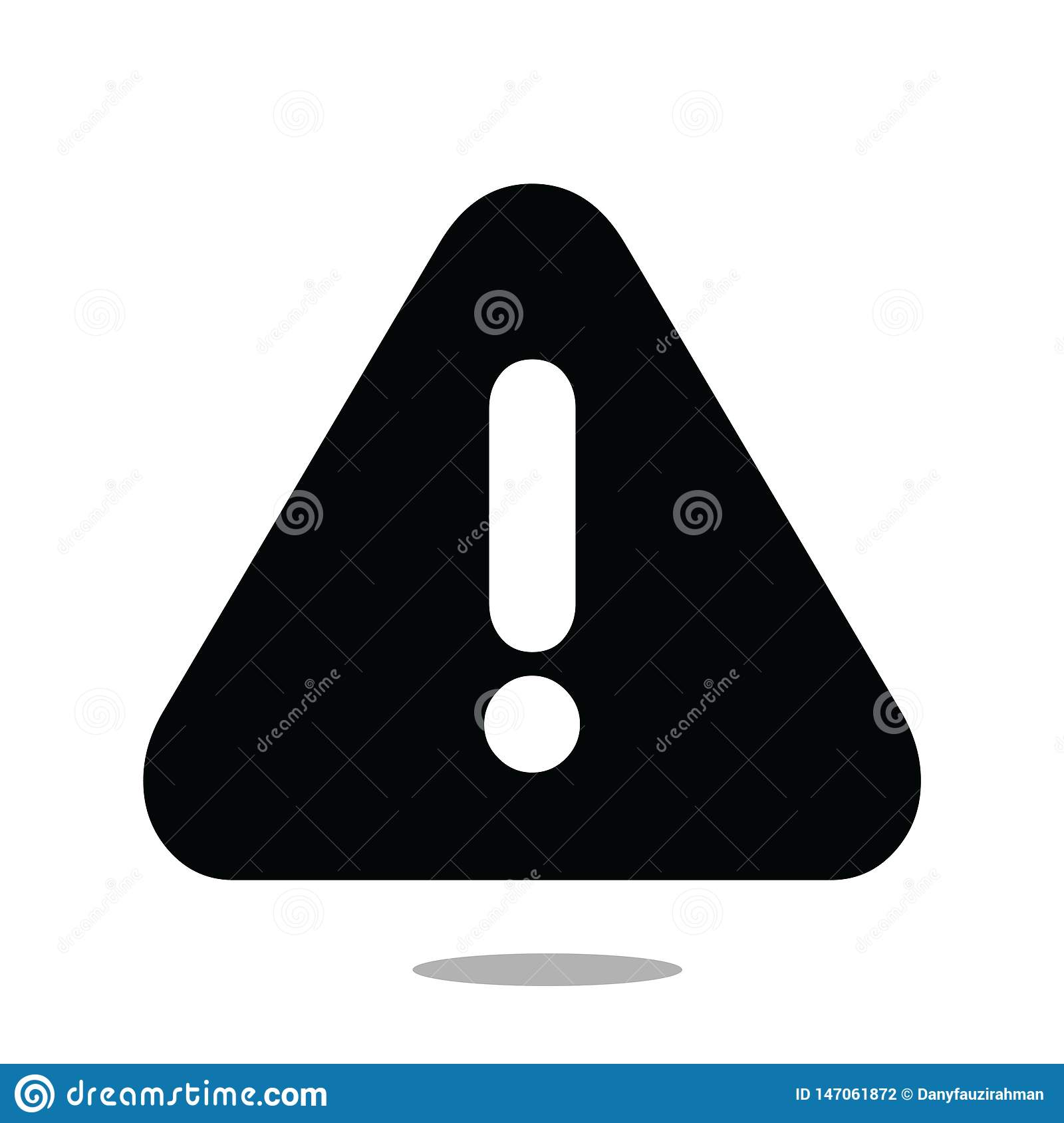 Attention Icon vector isolated white background-05