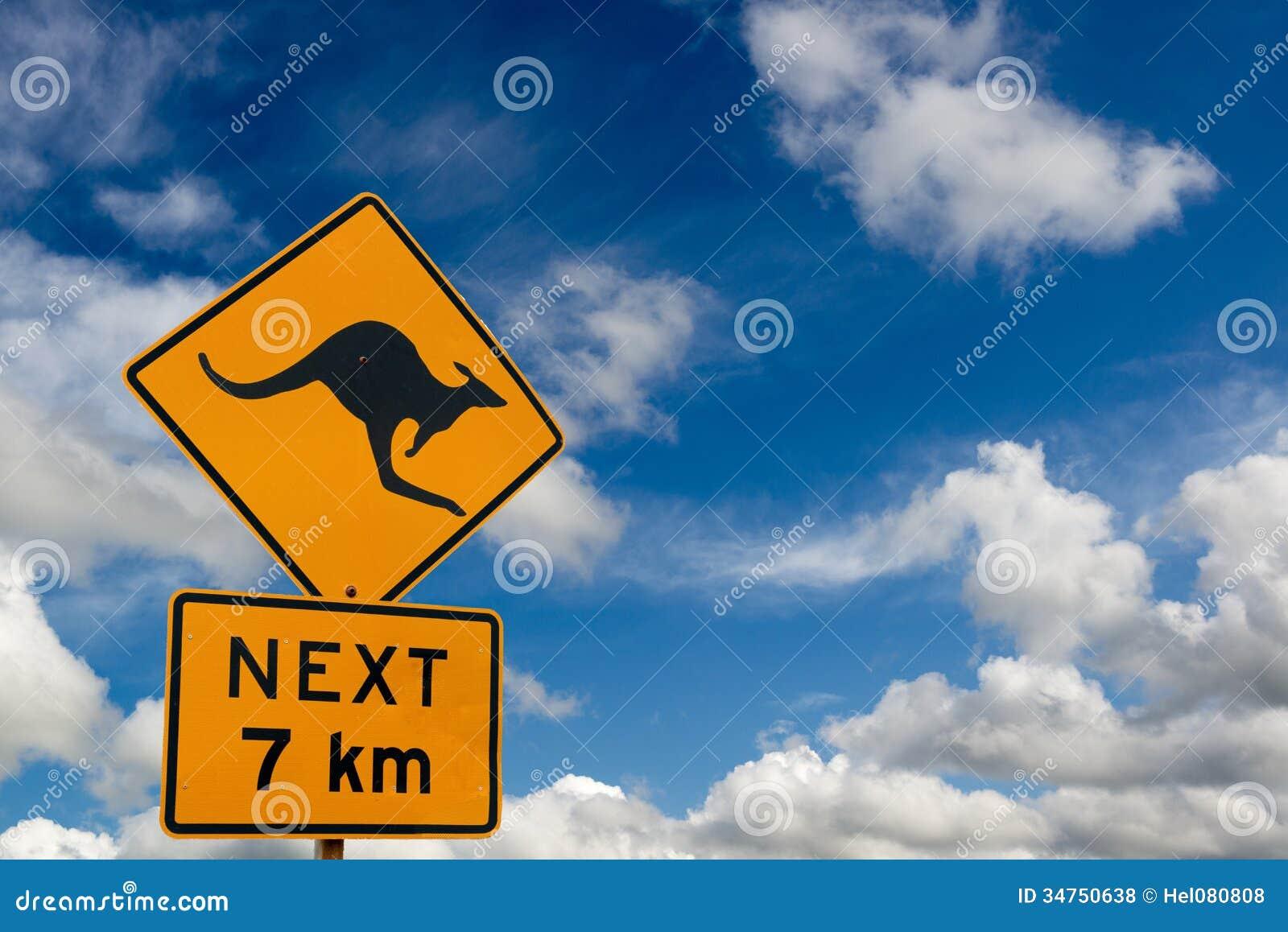 Attention kangaroo sign