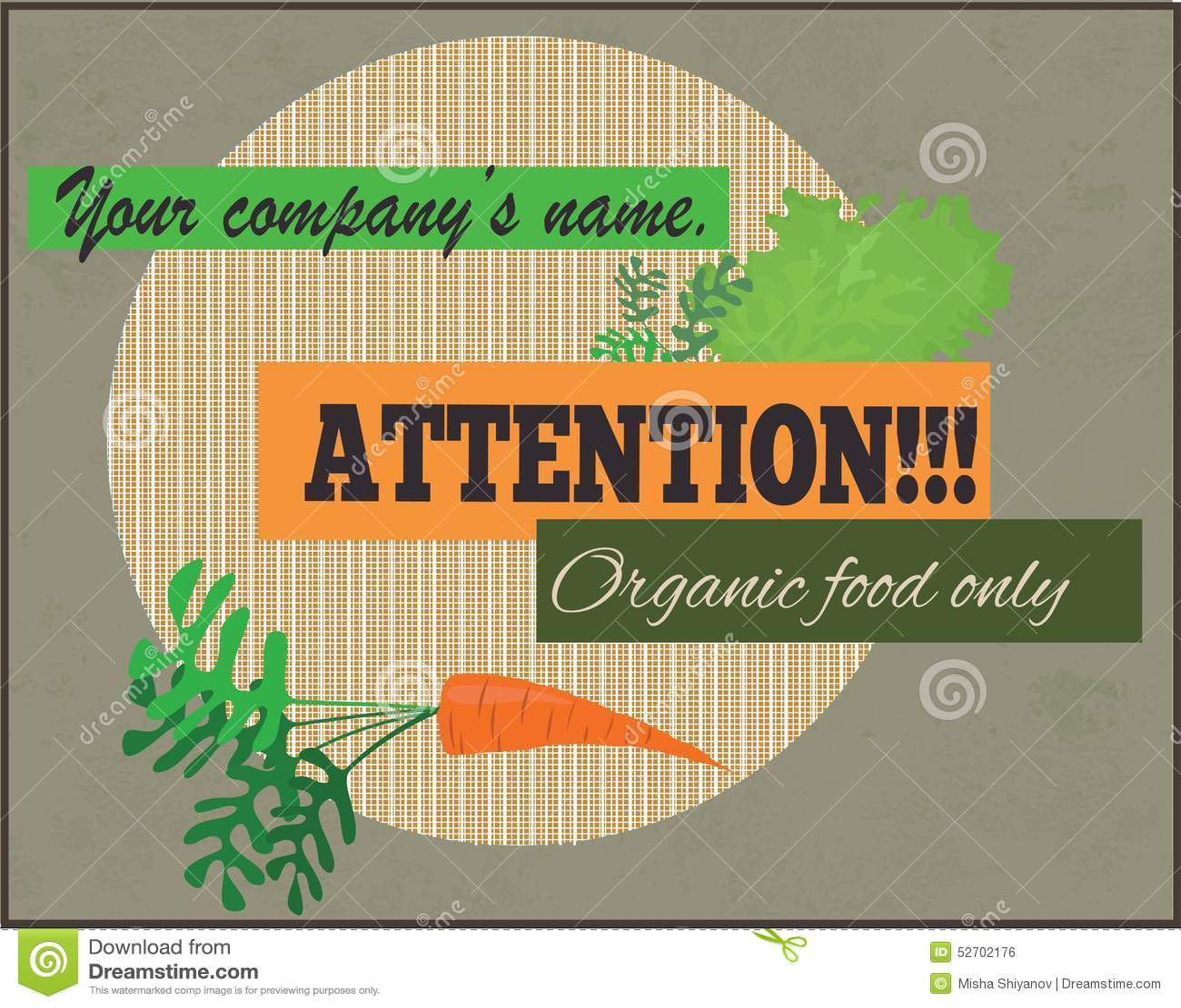 Attention, signe d aliment biologique seulement