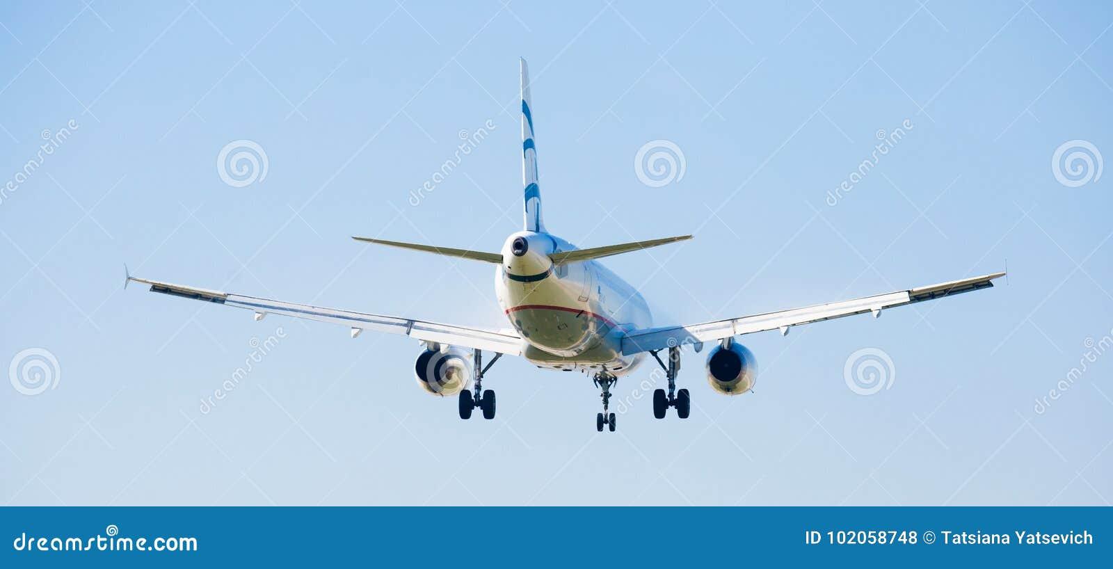 Atterraggio dell aereo di Aegean Airlines