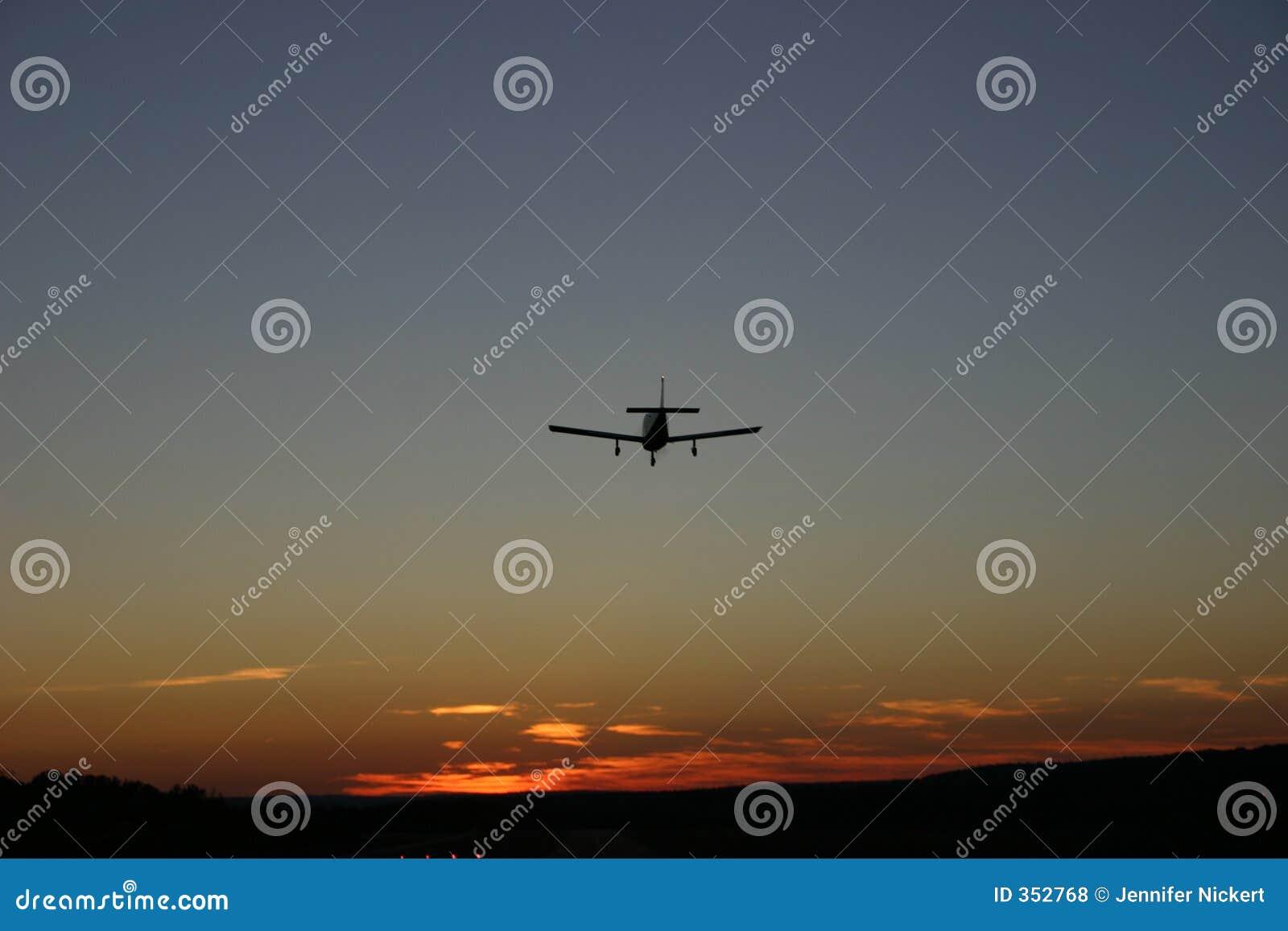 Atterraggio di aeroplano