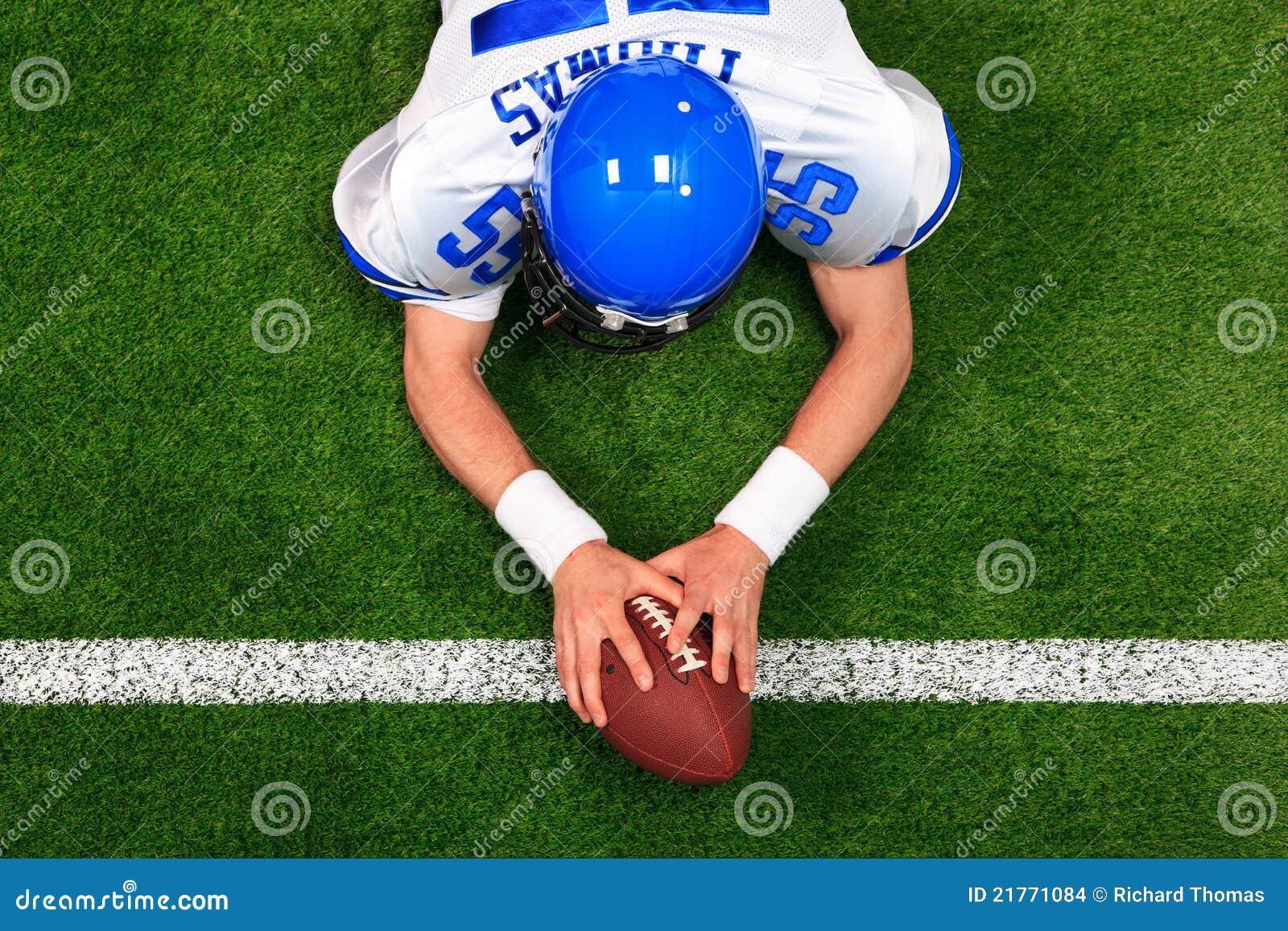 Atterrissage de joueur de football américain