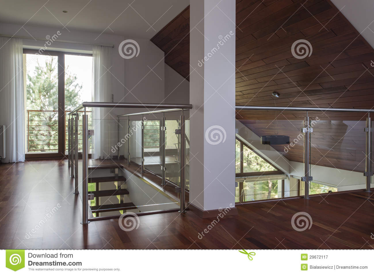 Attic Modern House Stock Image Image Of Design