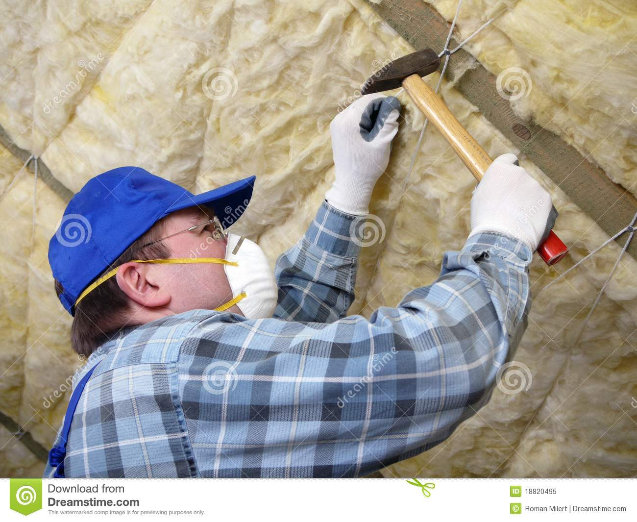 Attic thermal insulation royalty free stock photo image 18820495 - Attic thermal insulation ...