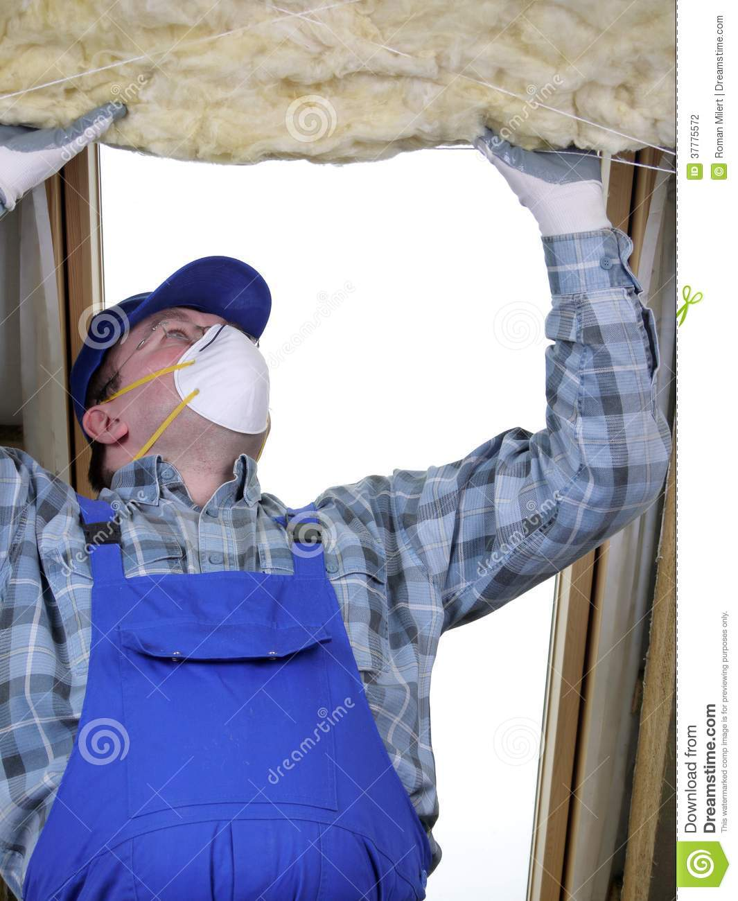 Attic thermal insulation stock photography image 37775572 - Attic thermal insulation ...