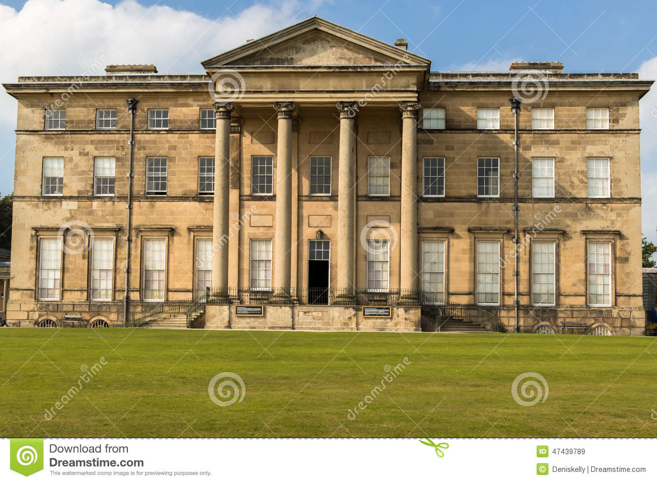 Attingham hall country house shropshire england stock for Country house plans uk