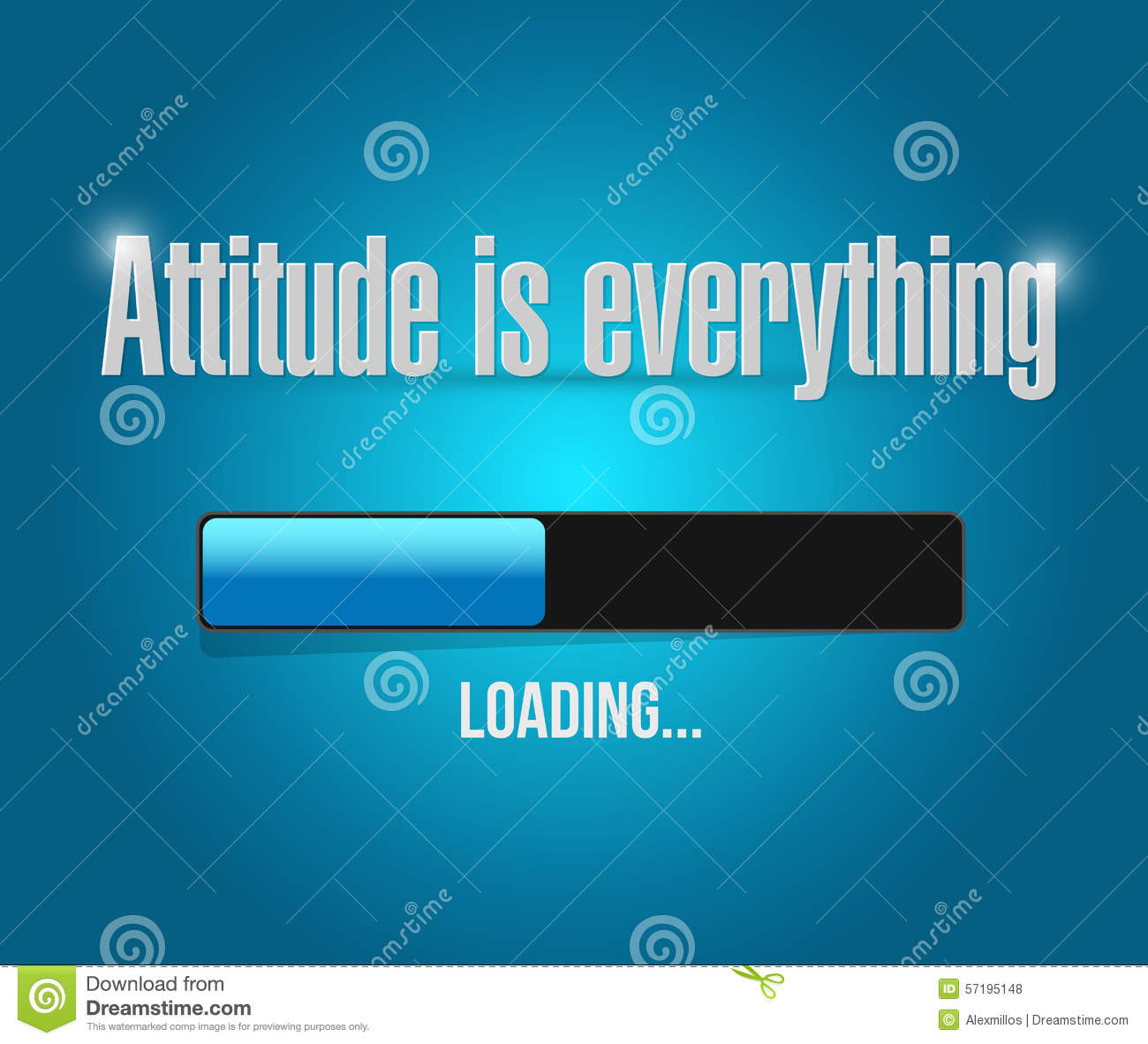 royaltyfree download attitude is everything loading