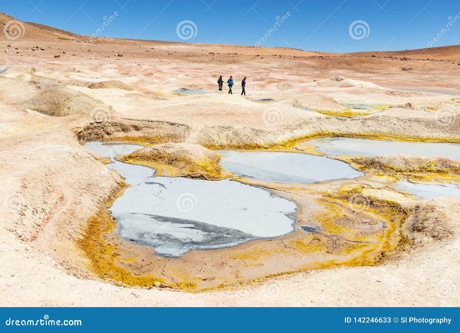 Attività del vulcano di Sol de Manana, Bolivia
