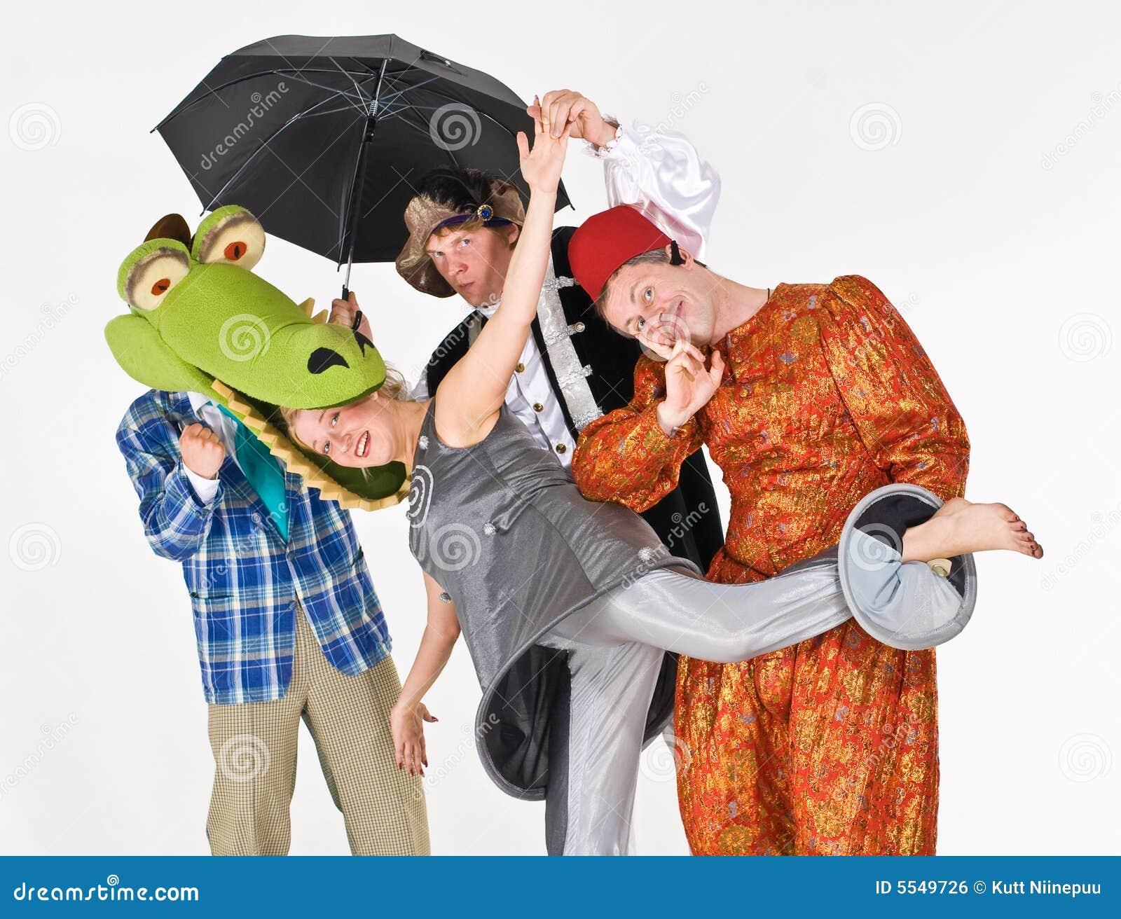 Attori teatrali in costume