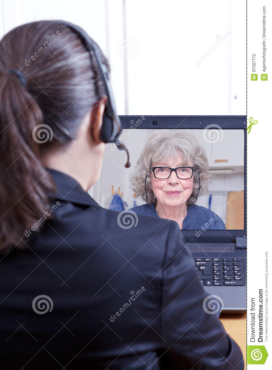 Attorney Client Online Video Call Stock Photo - Image of