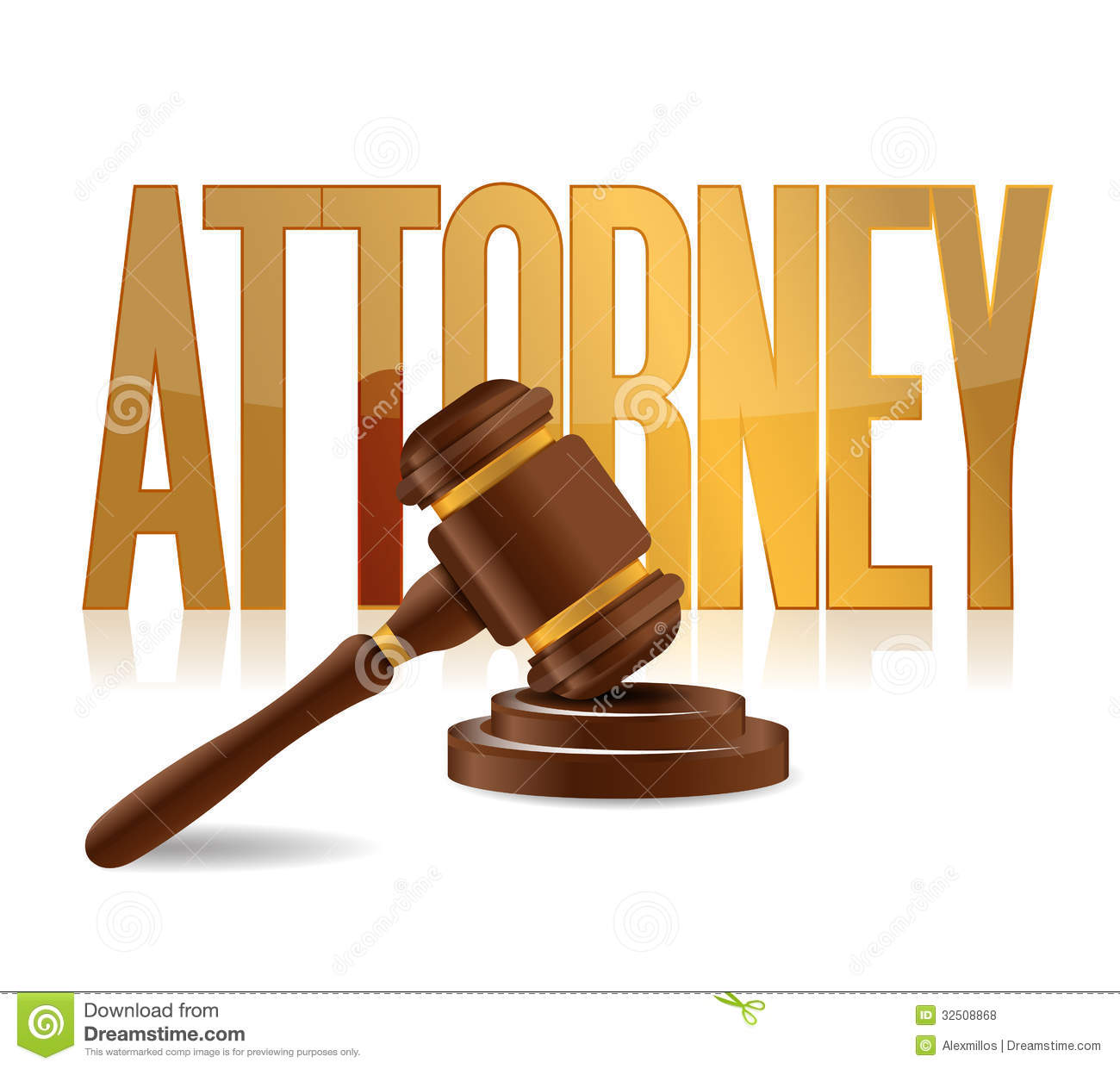 Attorney At Law Sign Illustration Design Stock ...