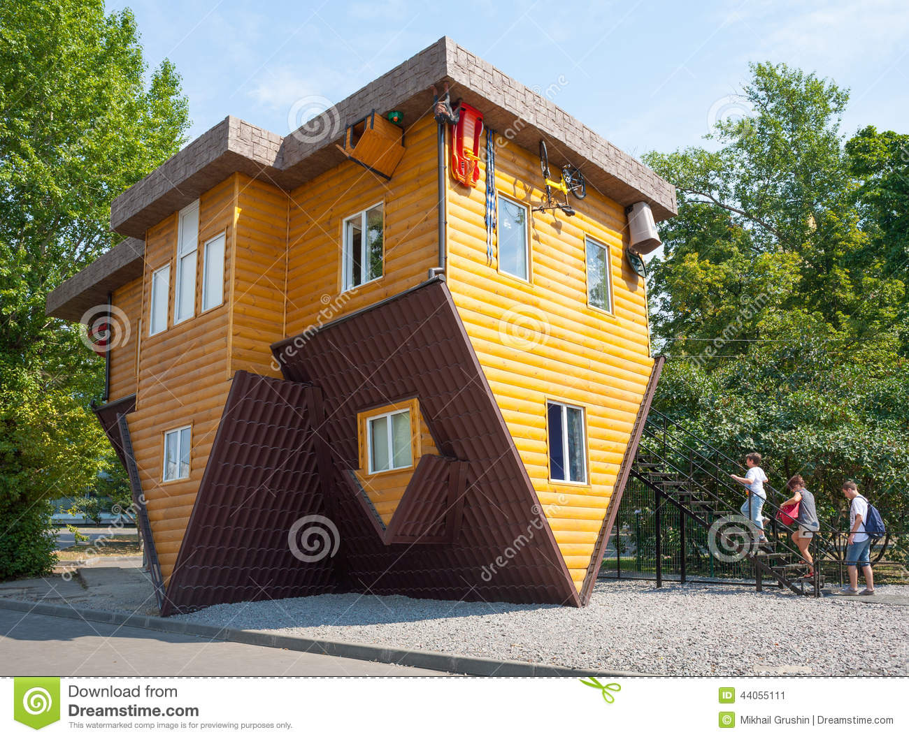 Attraction Inverted House Editorial Photo Image 44055111