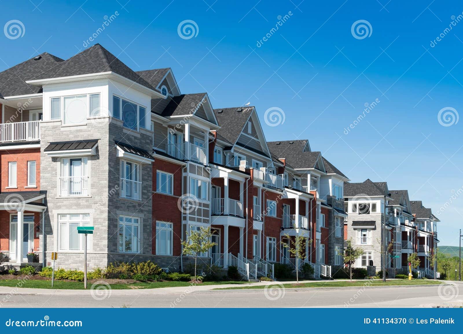 Attractive apartment buildings