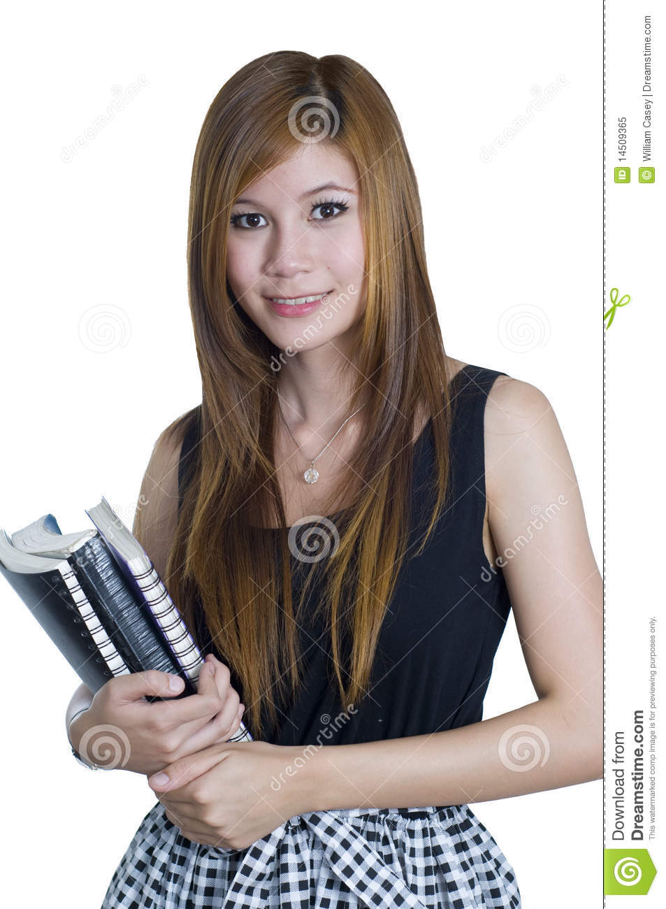 Attractive Asian College Student Stock Image Image Of