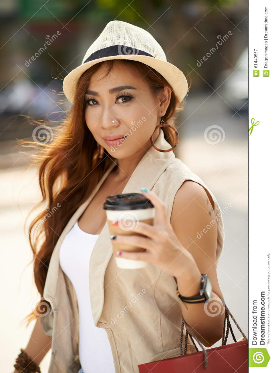 attractive asian girl stock photo   image 61443567