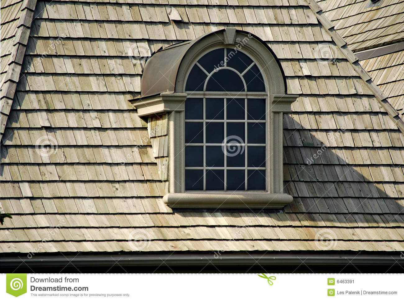 Attractive Attic Window Stock Image Image Of Wood Shake