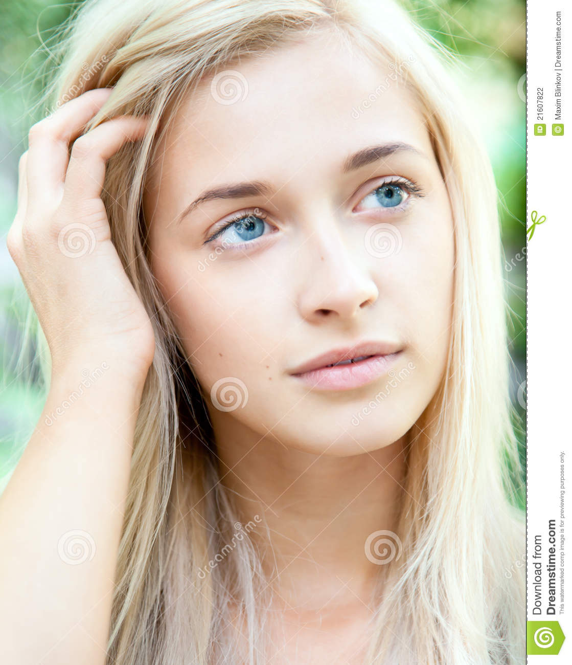 Attractive Beautiful Blonde Girl Stock Photography Image