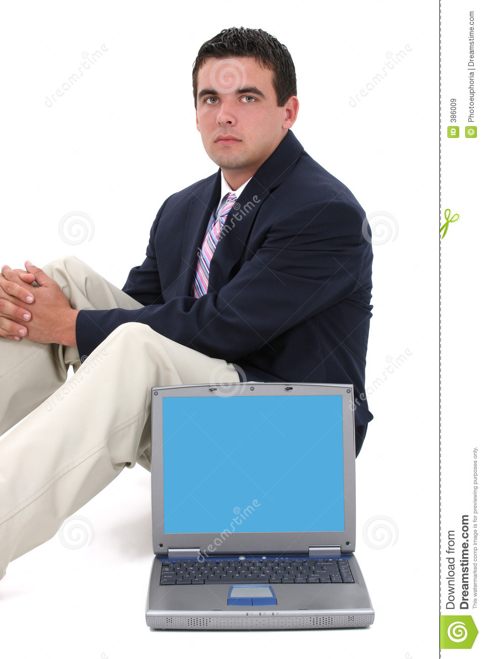 Attractive behind business man sitting young