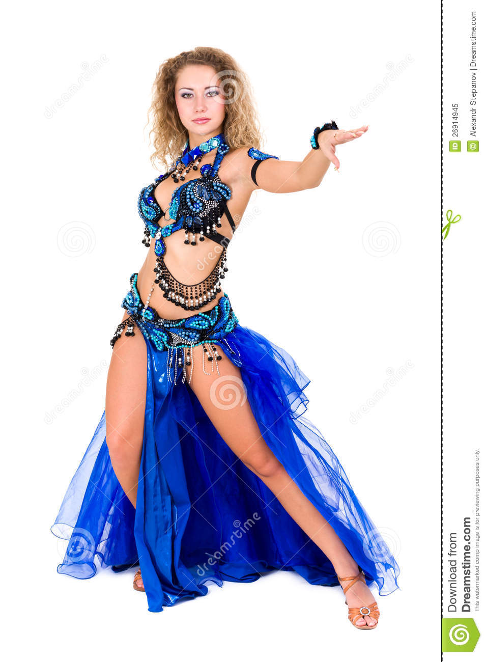 Traditional sexy belly dancing