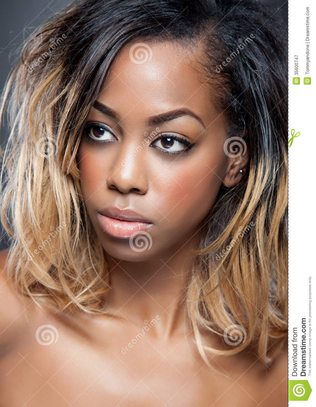 Attractive black woman