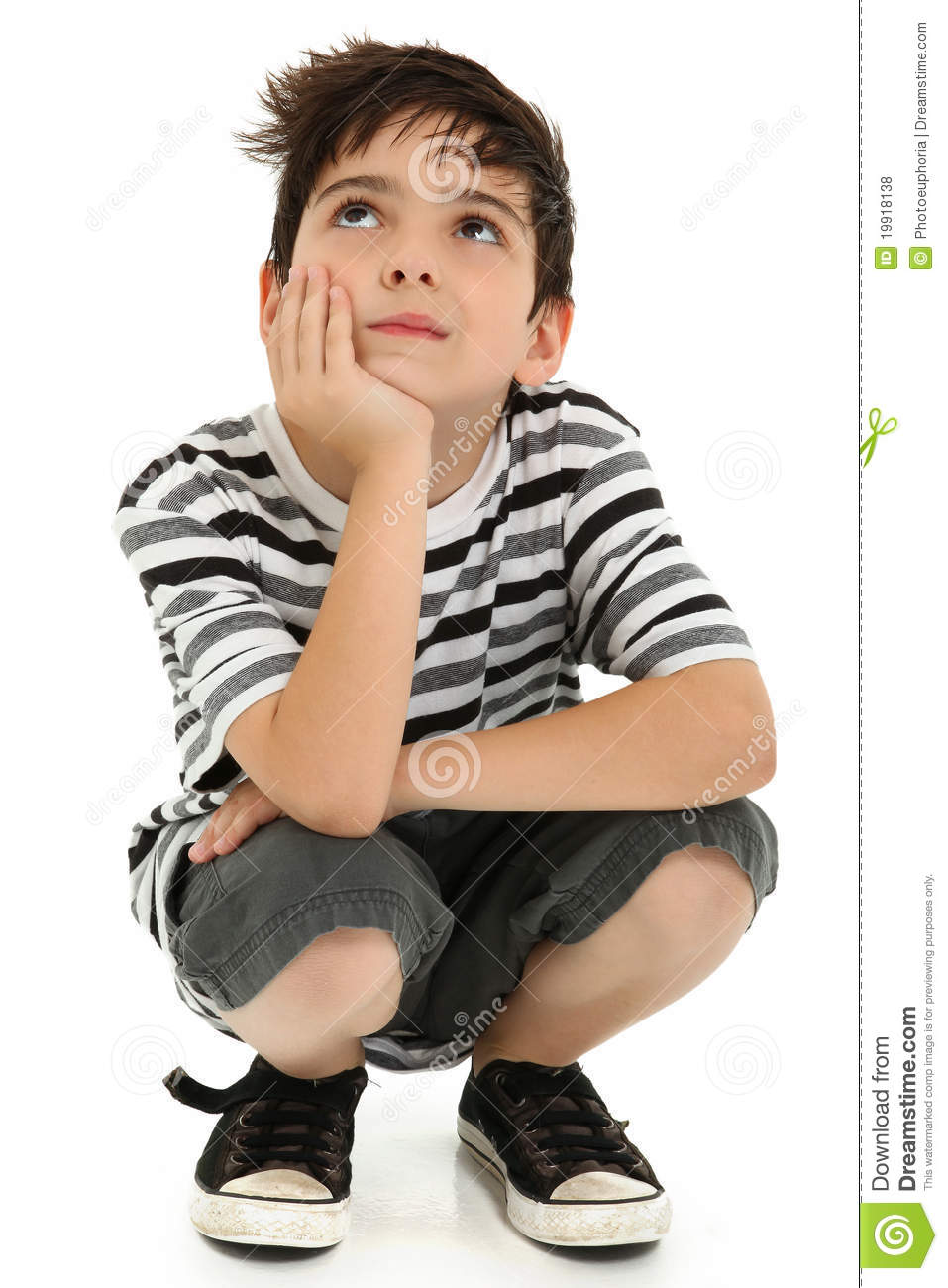 Attractive boy child thinking royalty free stock photos image