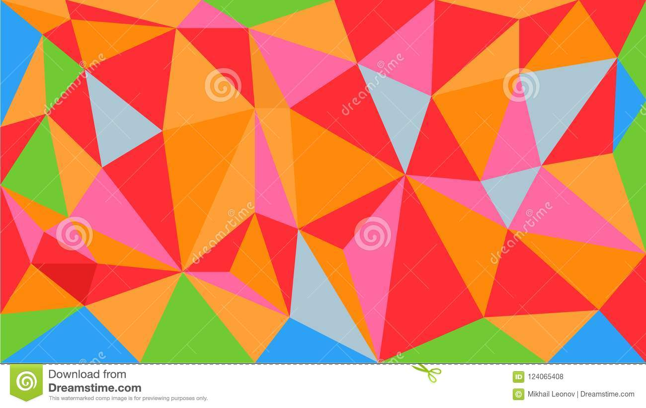 attractive bright vector polygonal geometric pattern background made