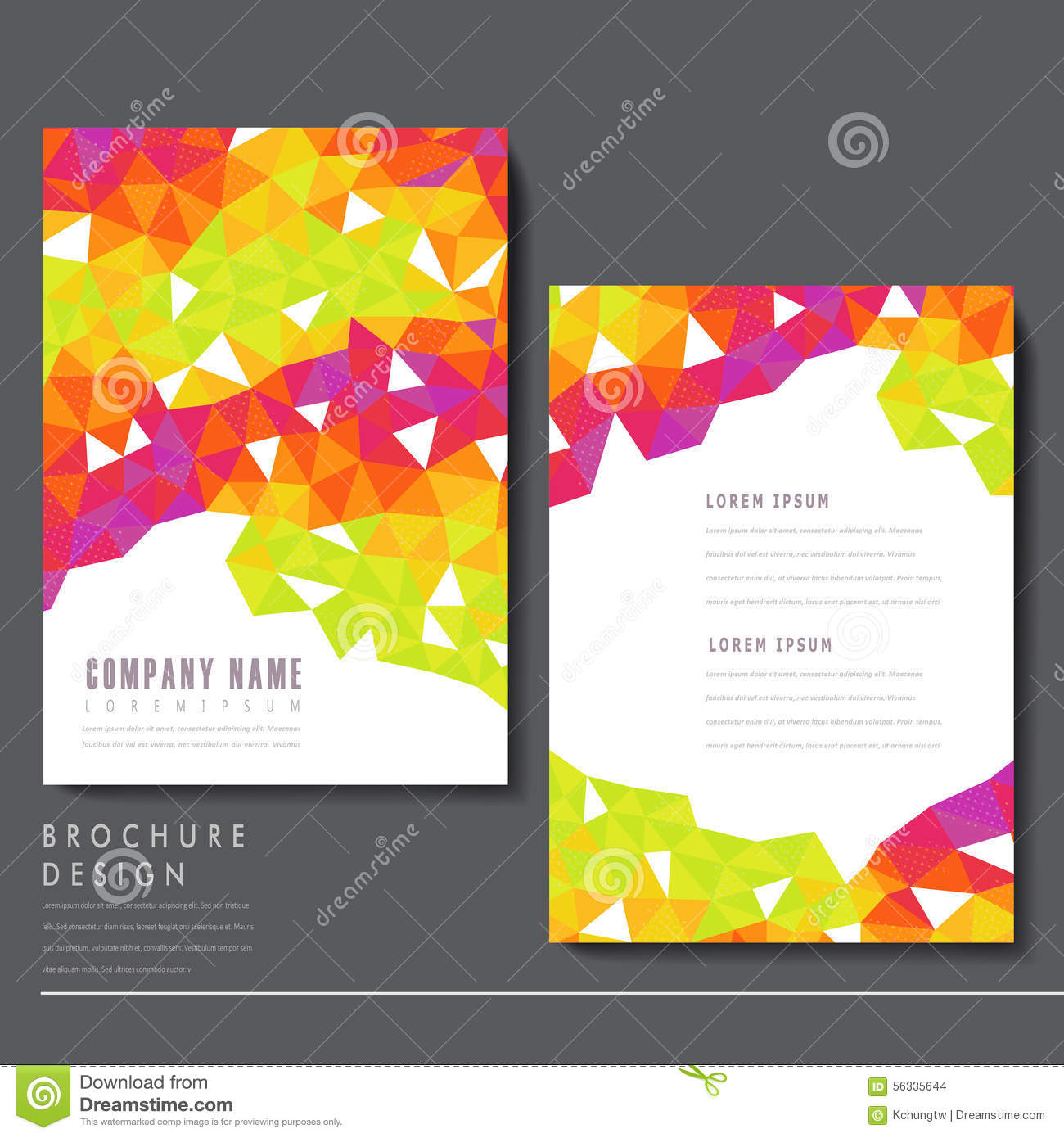 attractive brochure designs attractive brochure template design stock vector image