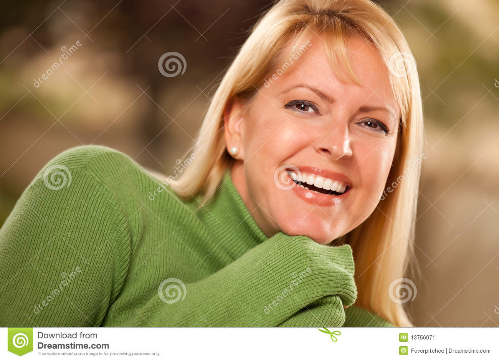 Attractive Brown Eyed Woman Portrait