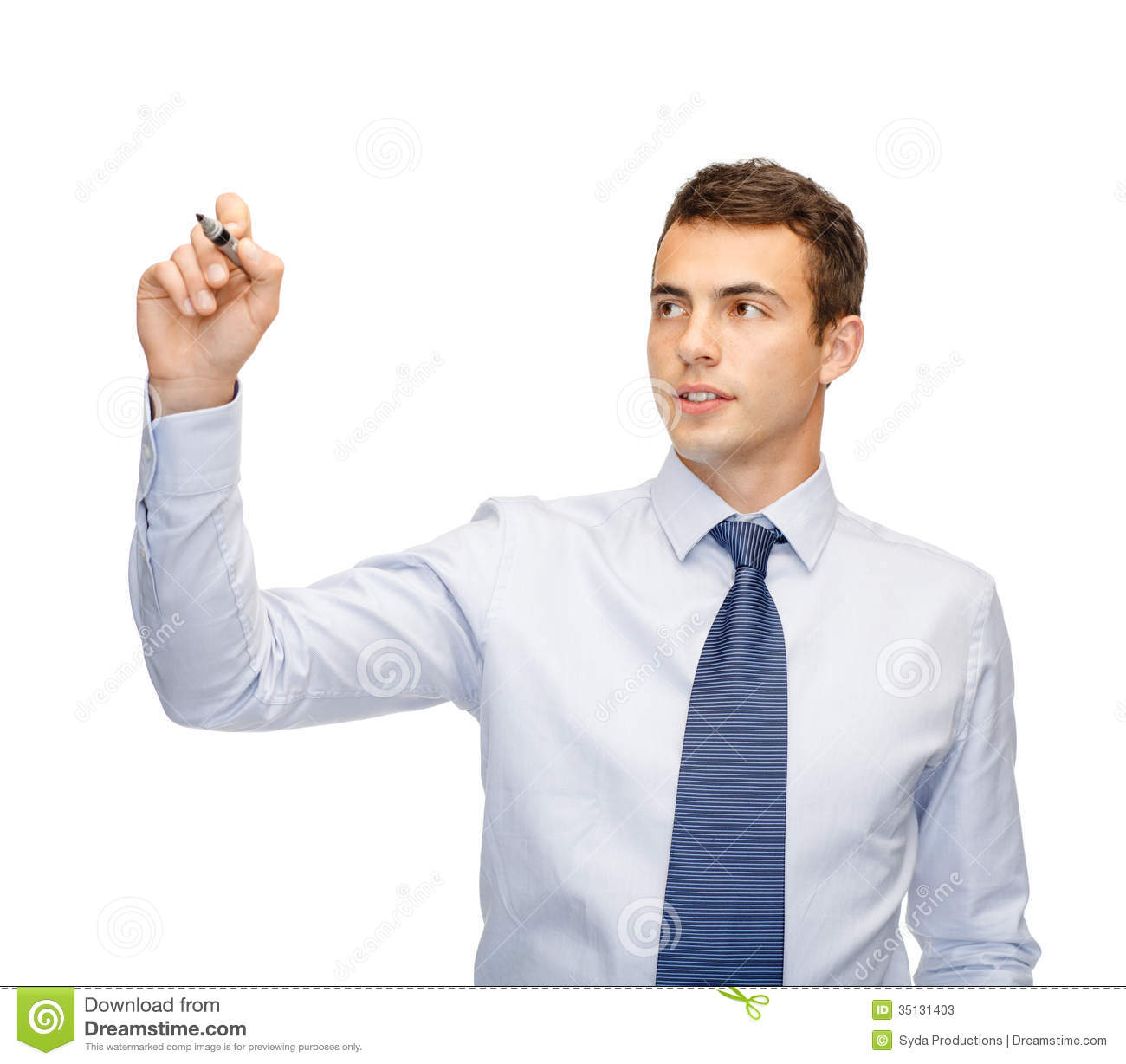 Attractive Buisnessman Or Teacher With Marker Stock Photos - Image ...