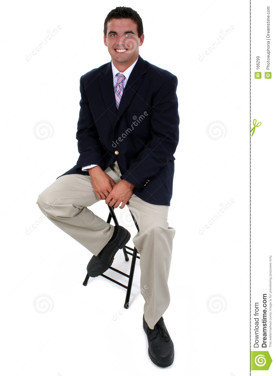 Attractive Businessman Sitting On Stool Royalty Free Stock Images Image 166299