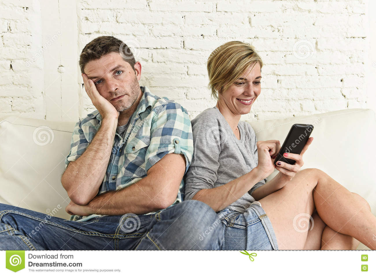 Woman addicted to online dating