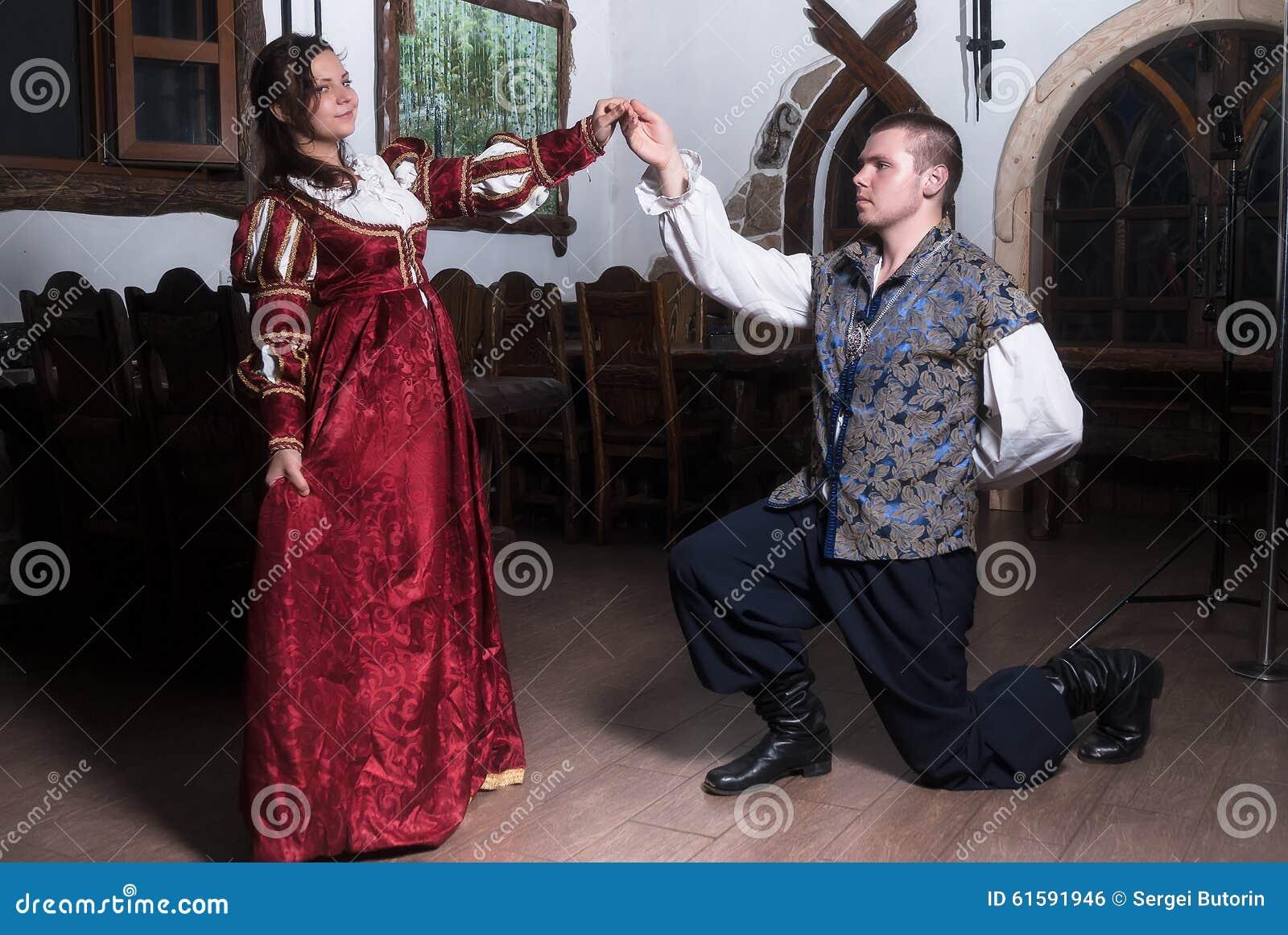 767b4ef81f17 Attractive Couple In Retro Dresses Dance Stock Photo - Image of ...