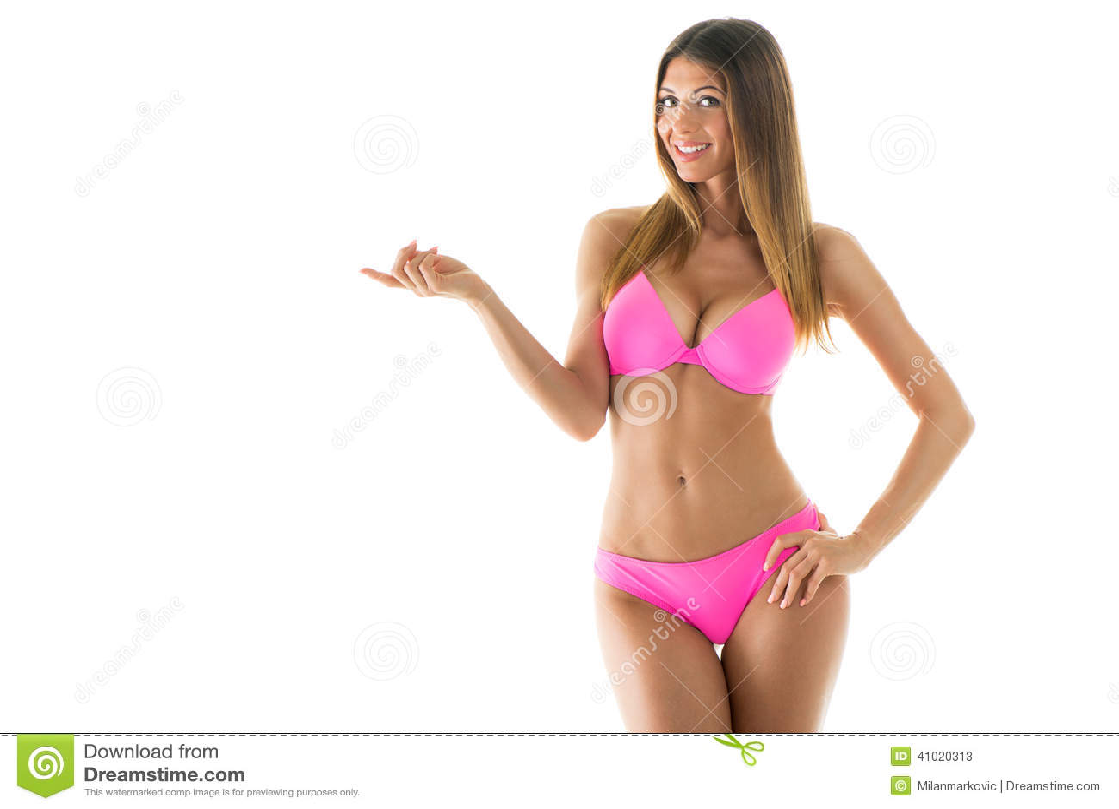 Attractive Girl In A Bikini Stock Photo