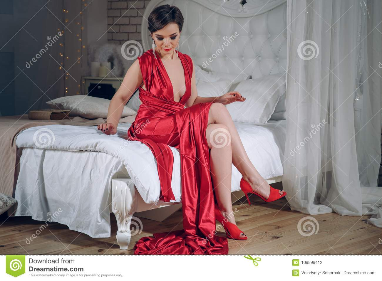 Evening Dresses with Red Shoes
