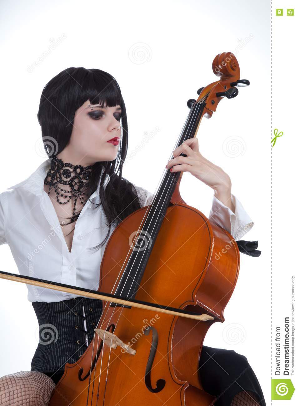 Attractive Girl Playing Cello Stock Images - Image: 14490354
