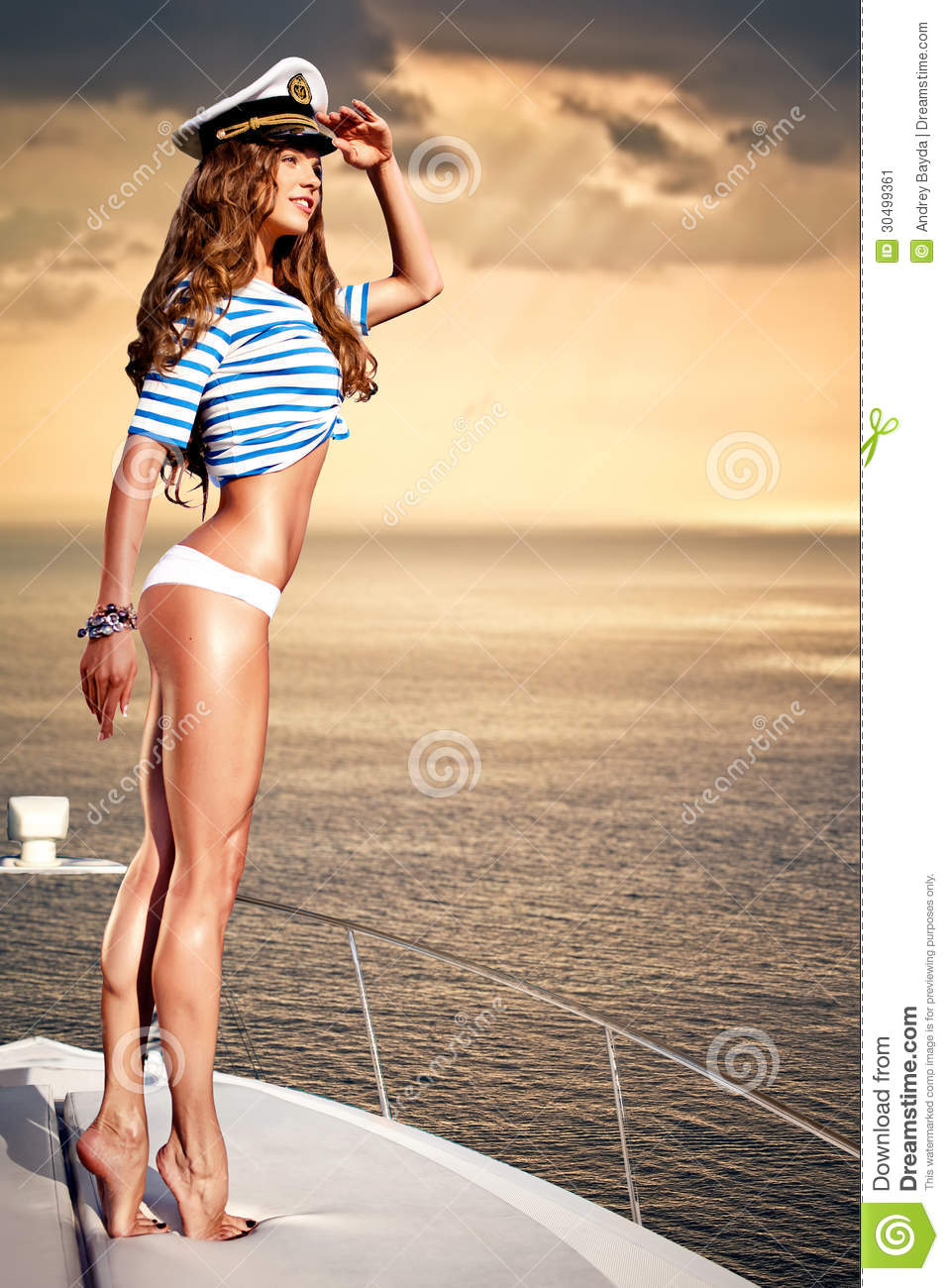 Attractive Summer Girl Royalty-Free Stock Photo ...