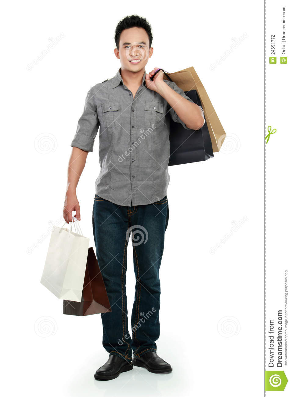 Attractive Happy Male With Shopping Bag Stock Photography - Image ...