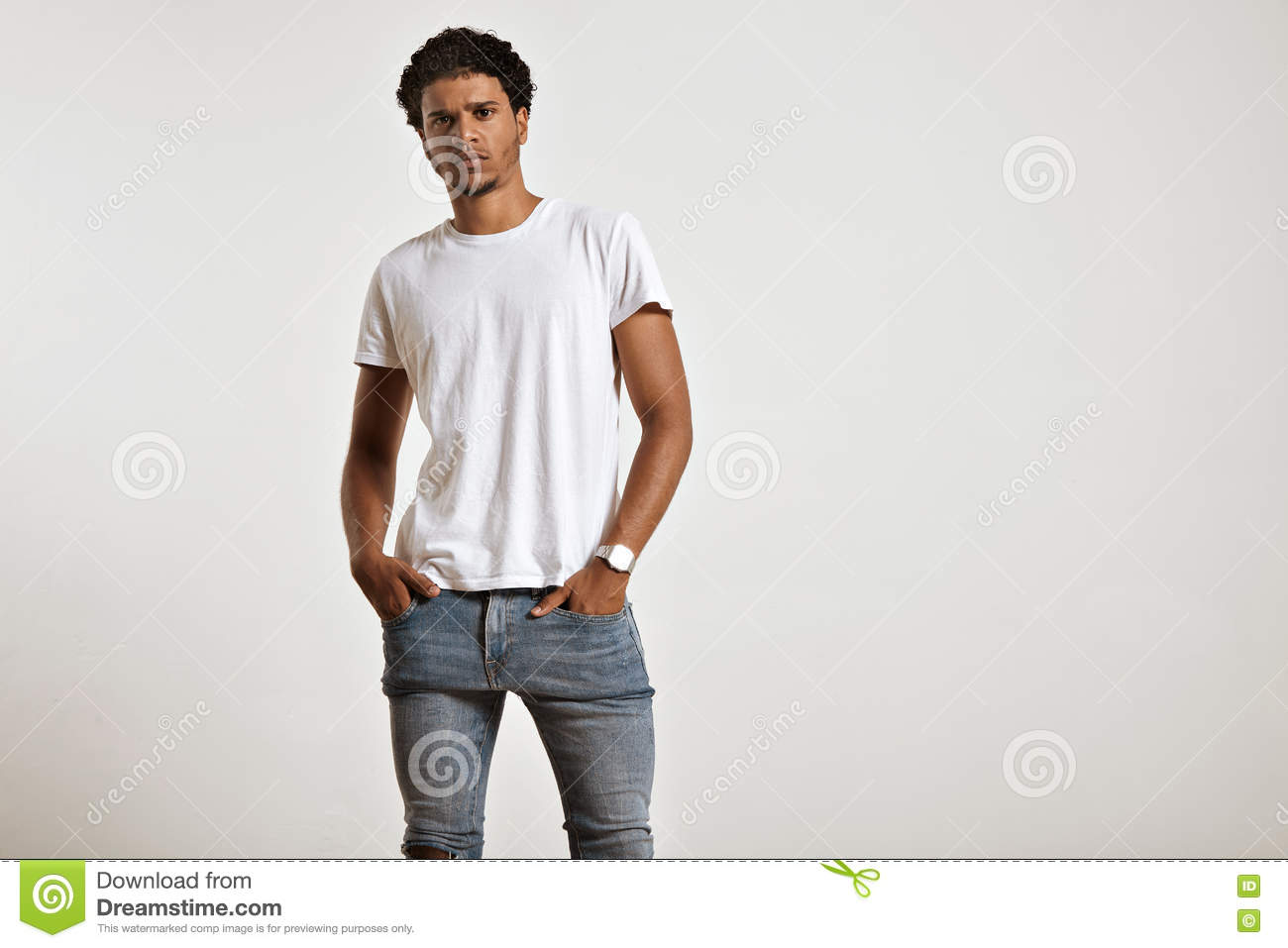 Man in white shirt holds in hands red heart on gray for Man in white shirt