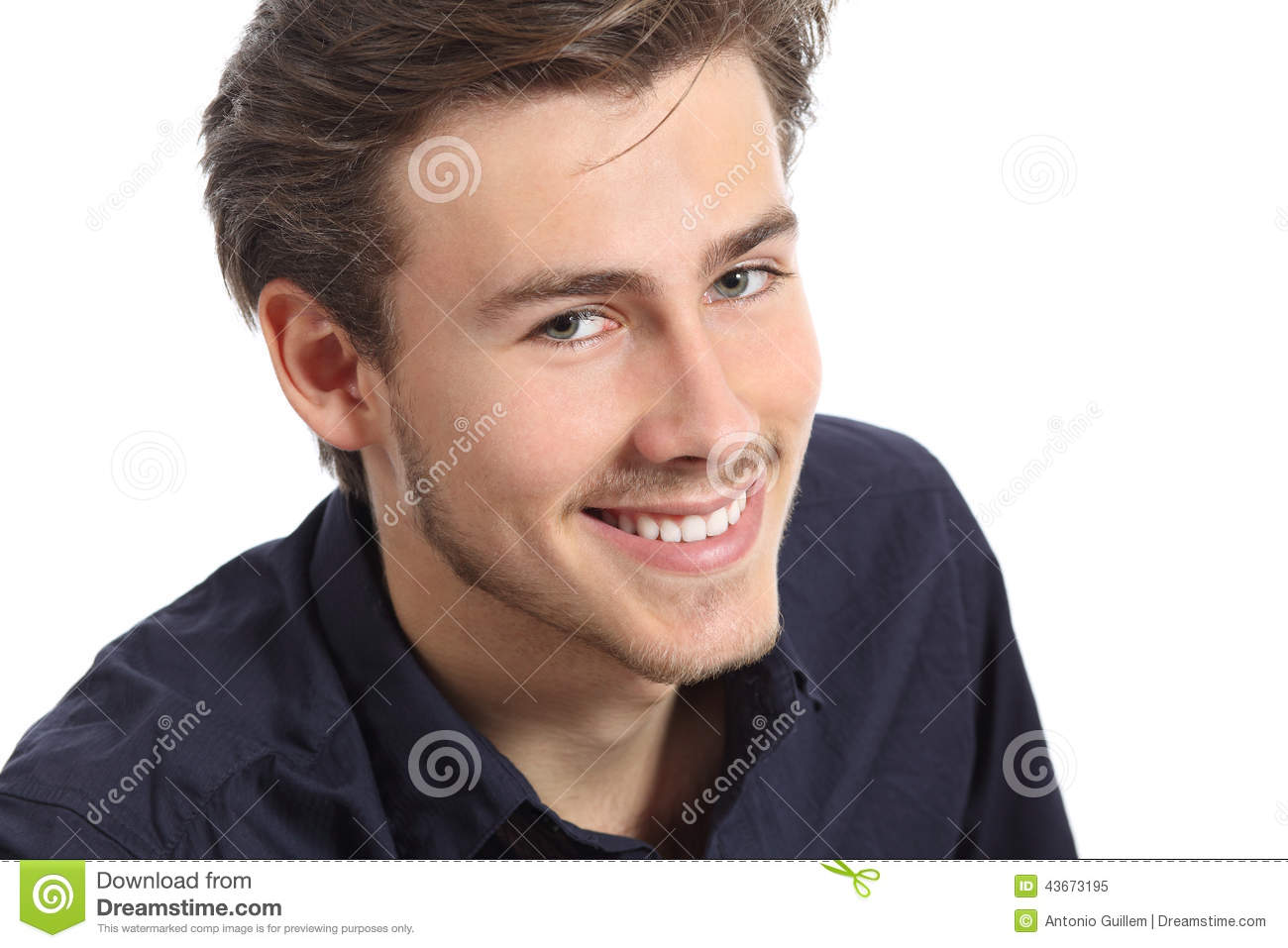 8835ebd23eff Attractive Man Face Portrait With A White Perfect Smile Stock Image ...