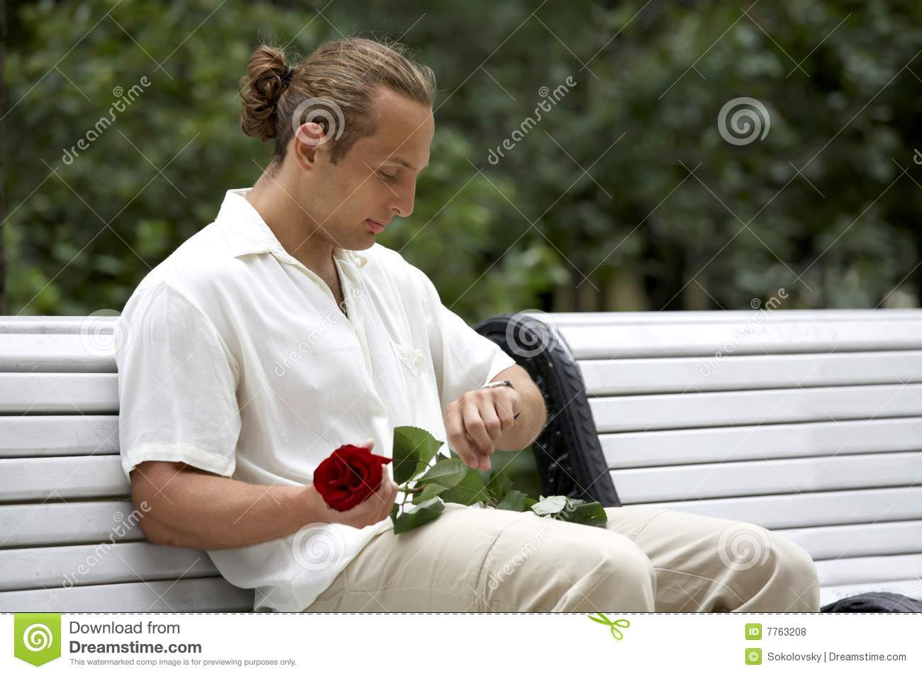Attractive Man In Waiting For Woman Royalty Free Stock ...