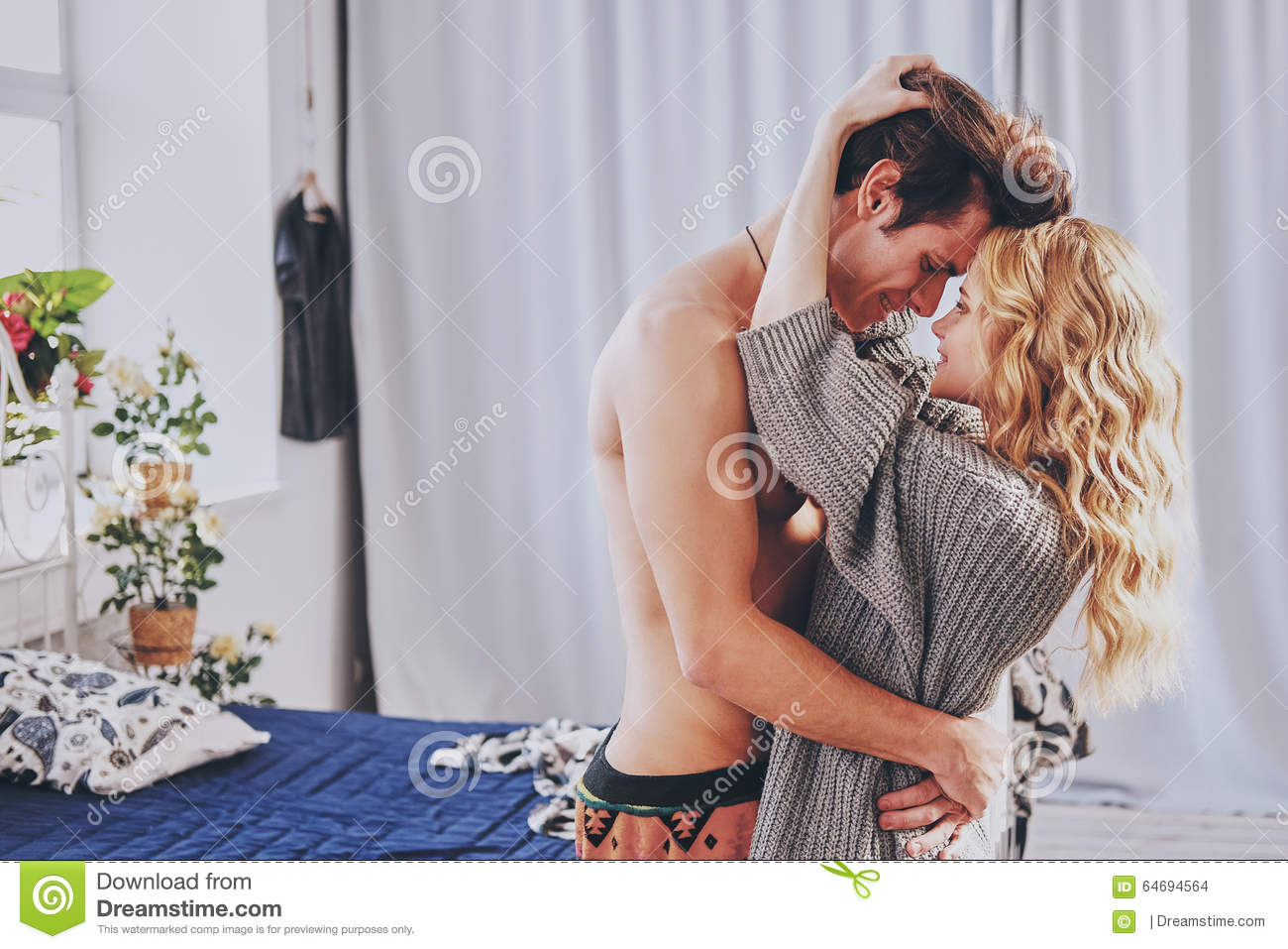 Men And Women In Bedroom Attractive Man And Woman In The Bedroom Together Cuddling Cute