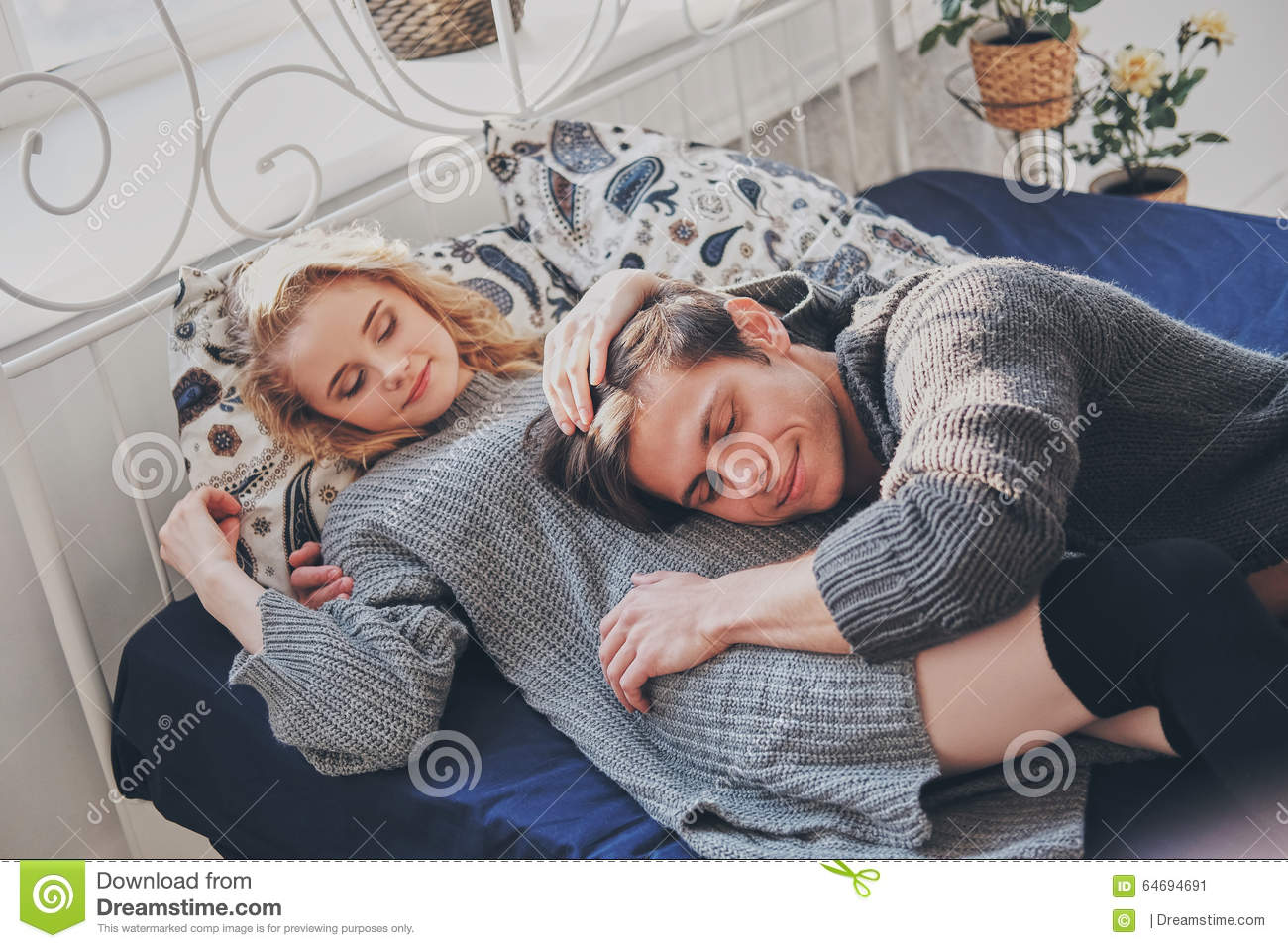 Man And Woman In The Bedroom